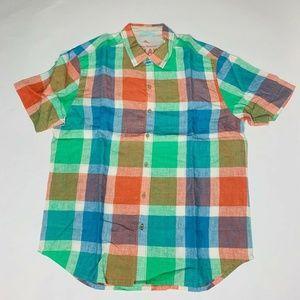 Tommy Bahama Mens Camp Shirt Pismo Plaid Breezer